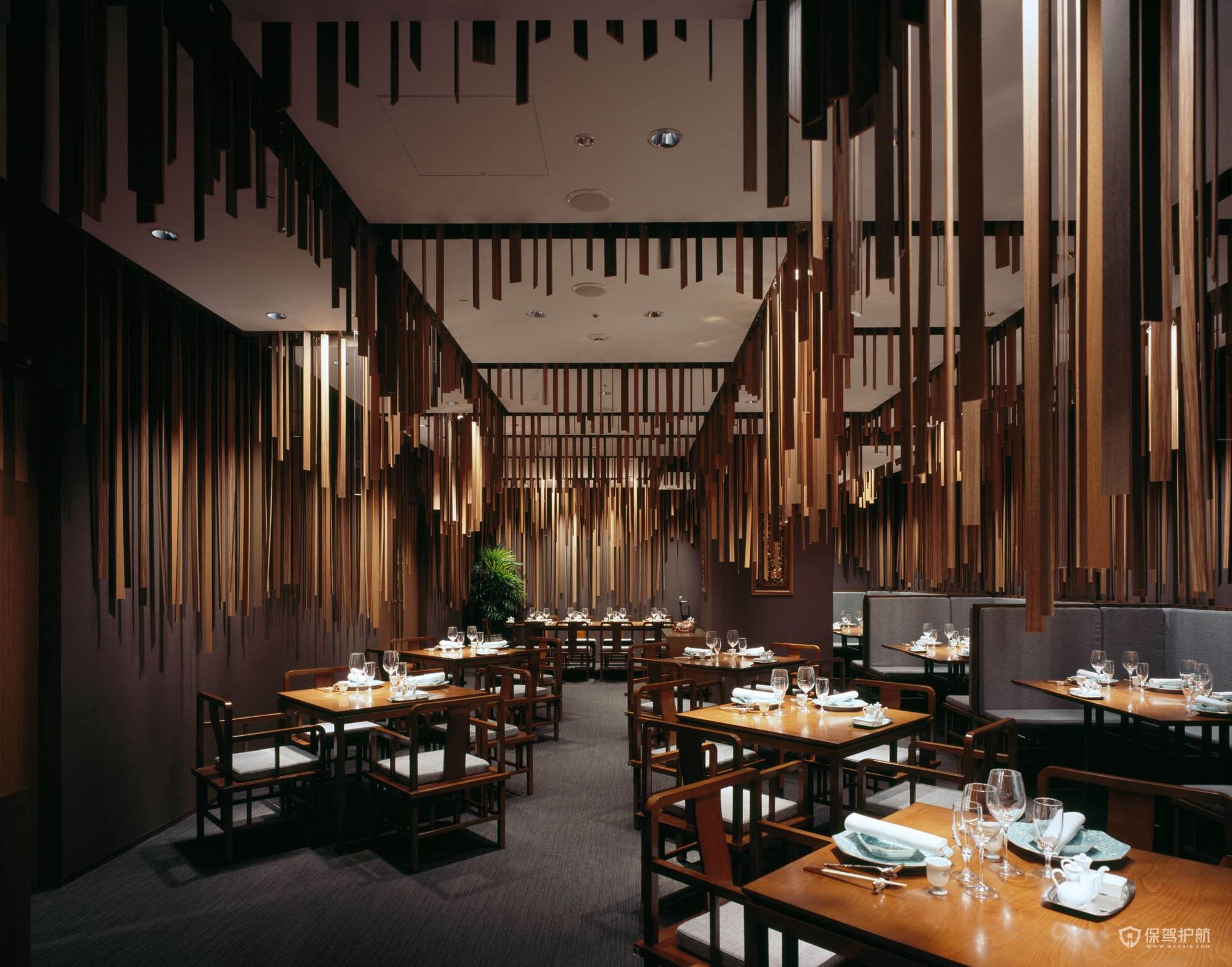 新中式餐廳裝修效果圖