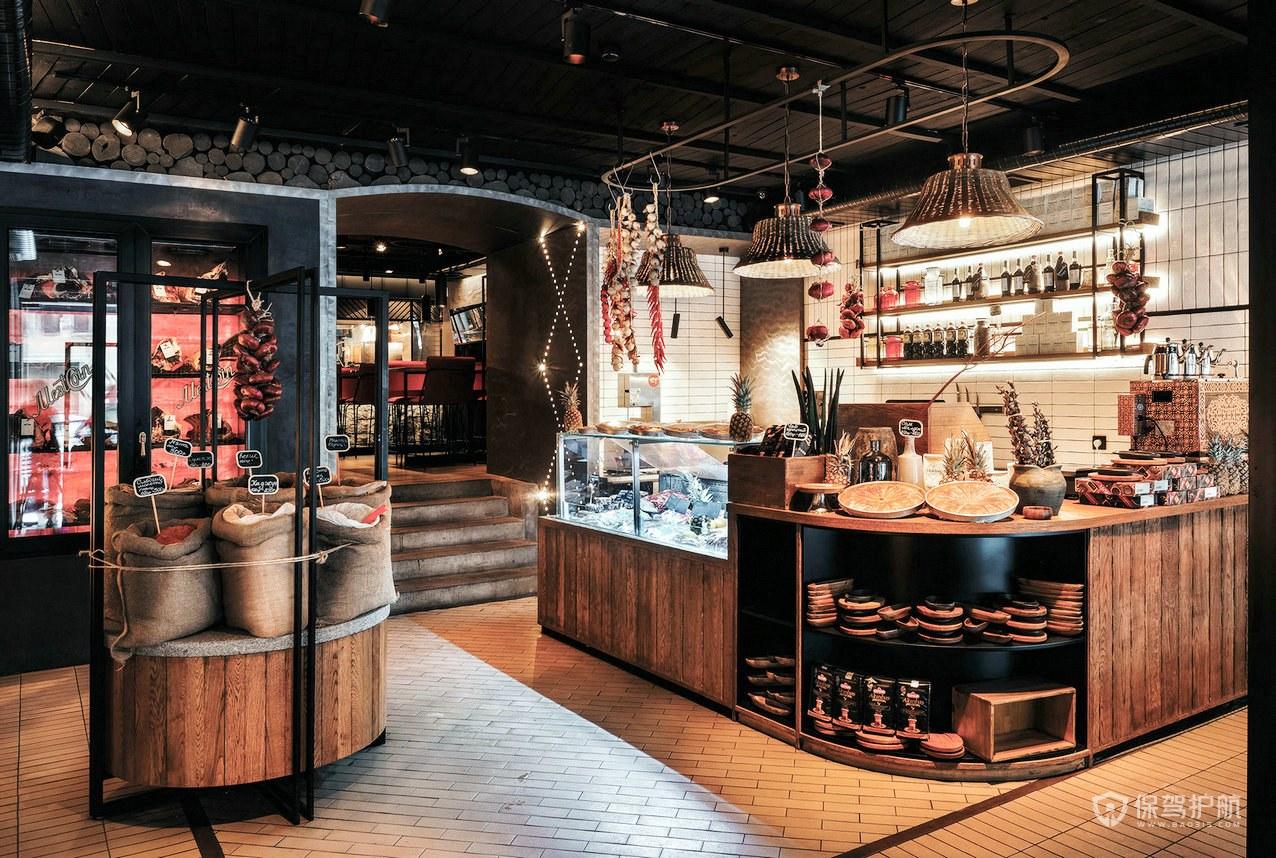俄罗斯网红餐厅收银台装修效果图