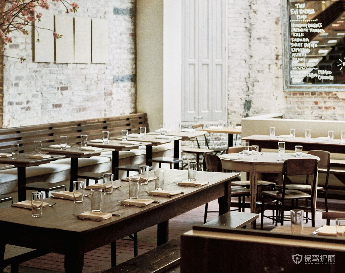 復古小型西餐廳裝修效果圖
