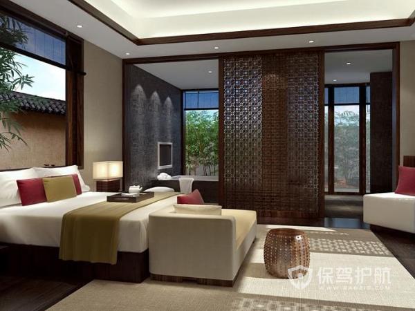 经济型中式酒店装修效果图