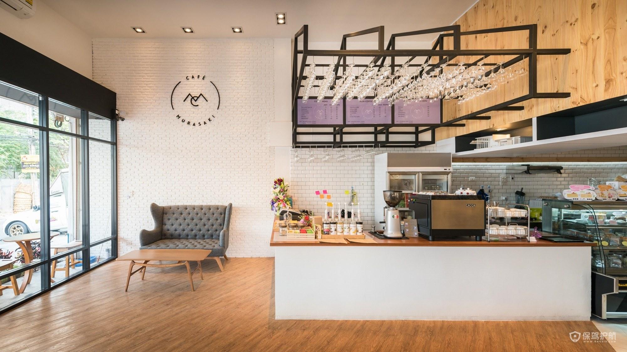 温暖的咖啡馆操作台设计图