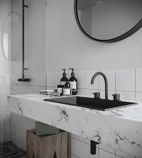 黑色撞色一居室北欧风格装修效果图片