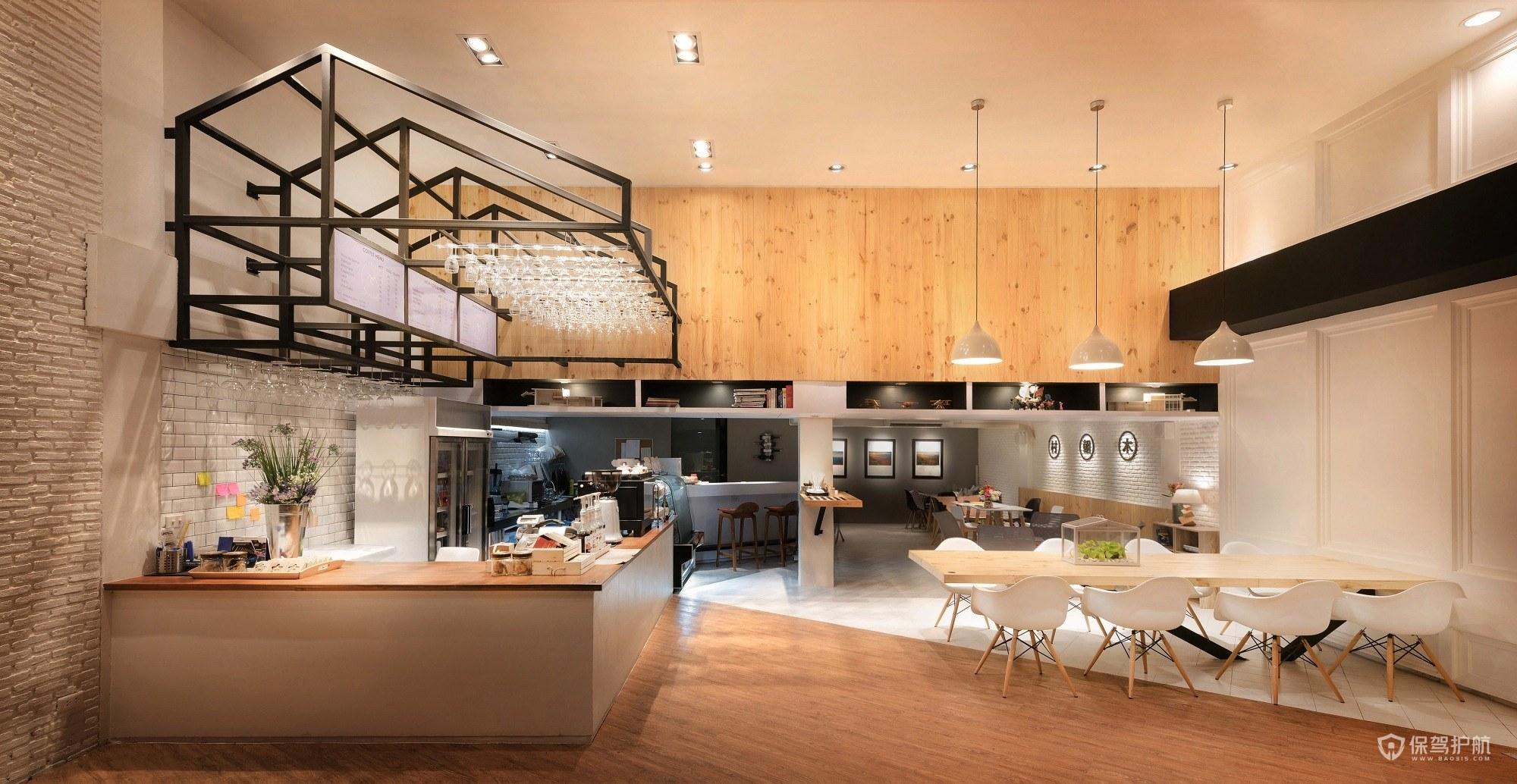 温暖的咖啡馆设计效果图