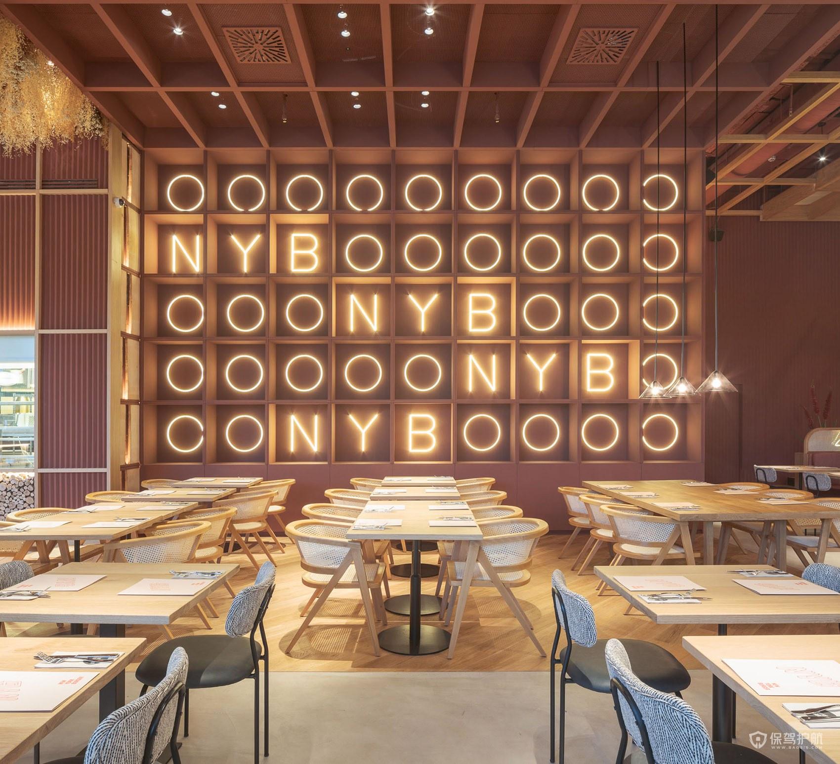 200平美式西餐厅装修效果图