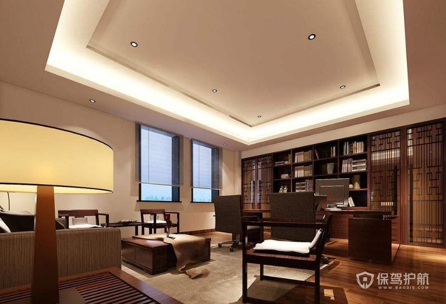 中式风格老板办公室设计图片