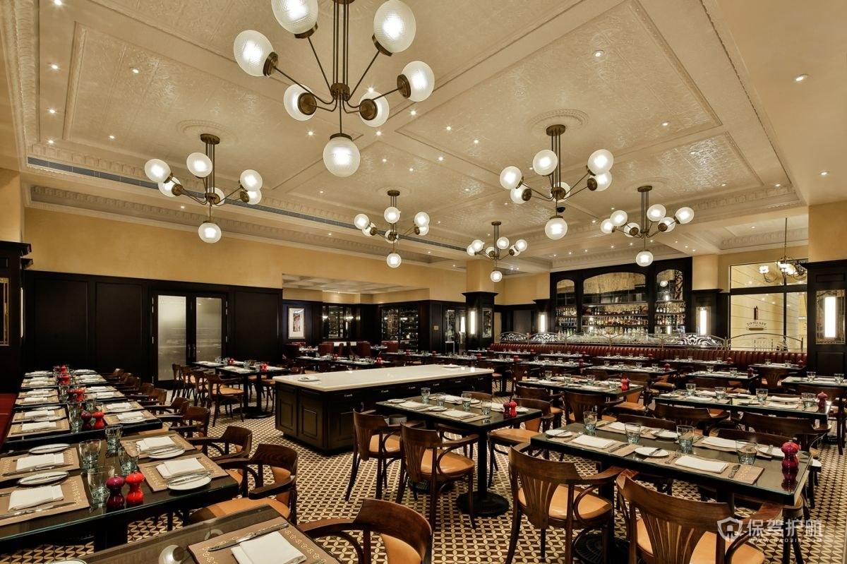 优雅法国餐厅装修效果图