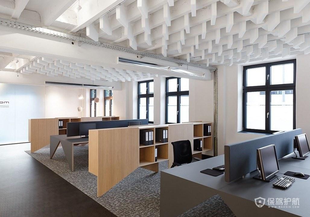 后现代办公大厅装修效果图