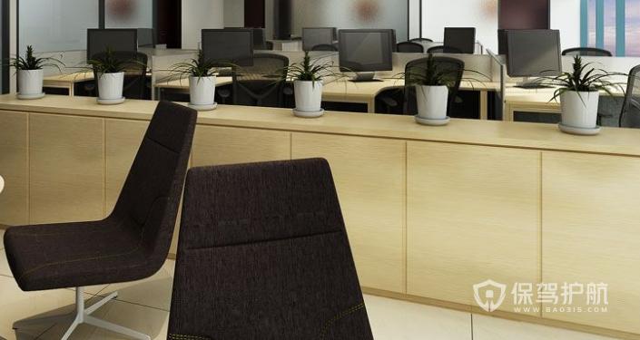 现代员工办公区装修效果图