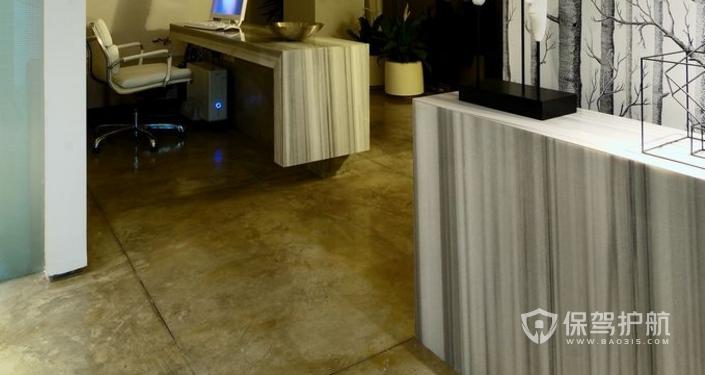 现代办公室前台装修效果图