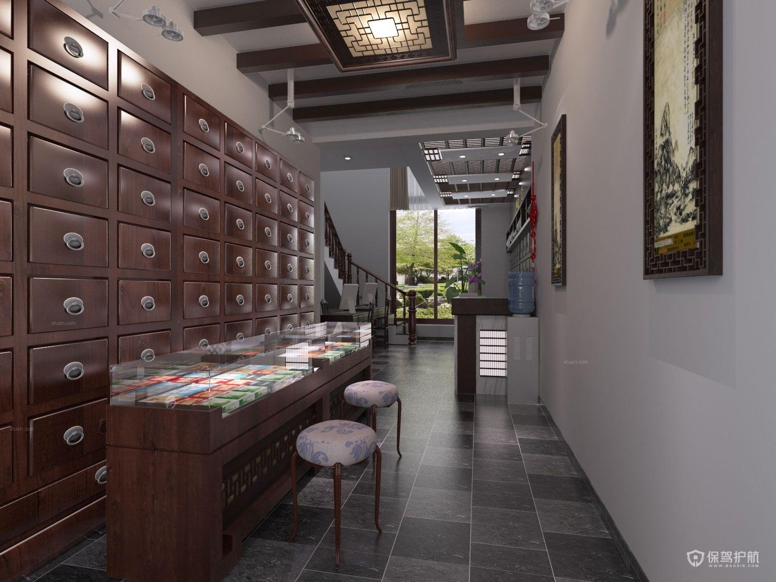 中式展柜装修实景图