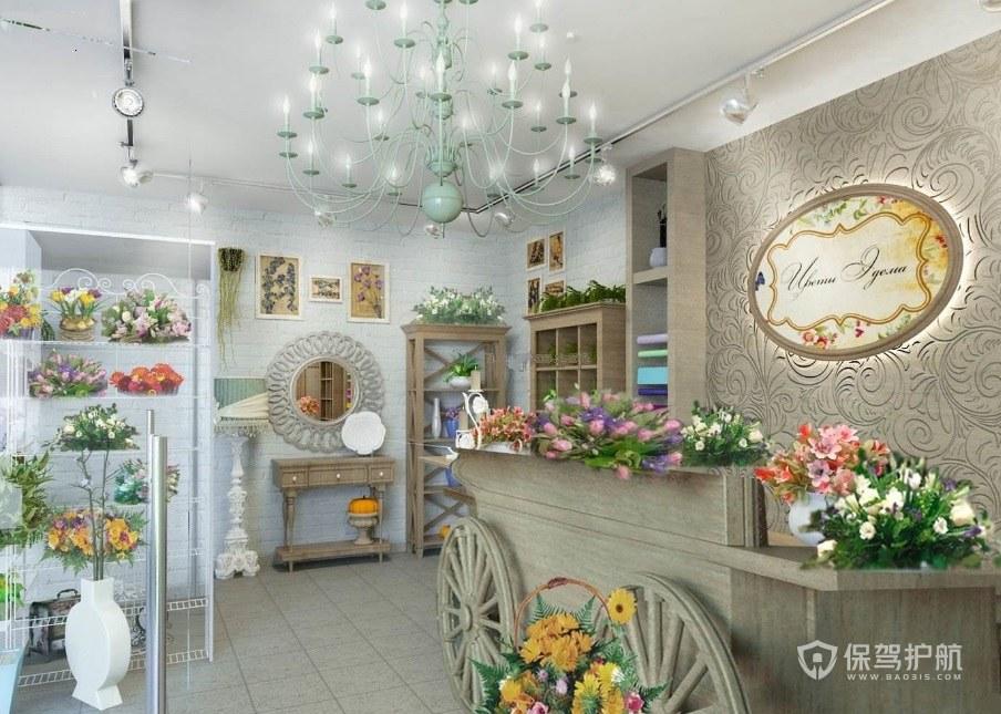法式浪漫花店装修效果图