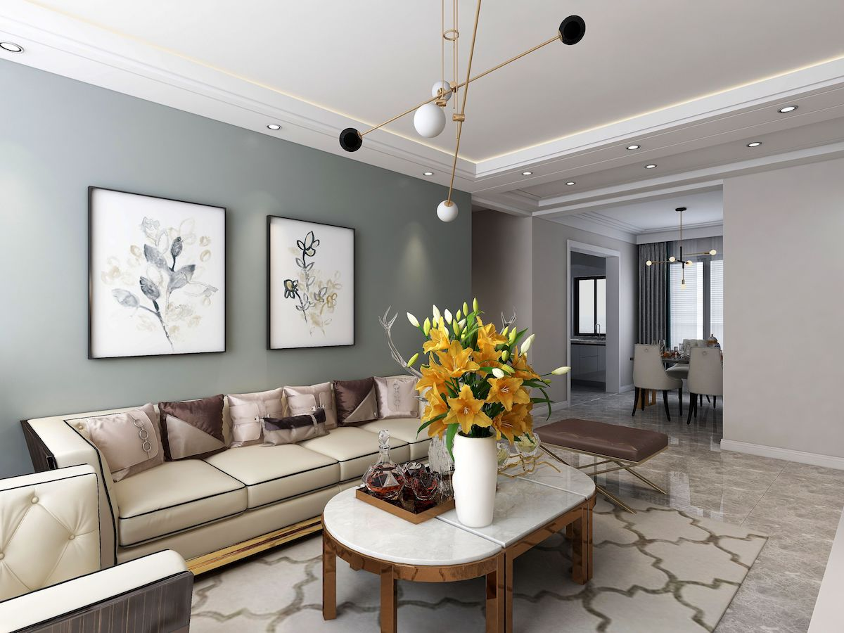 世茂諾沙灣122平三居室現代輕奢家裝效果