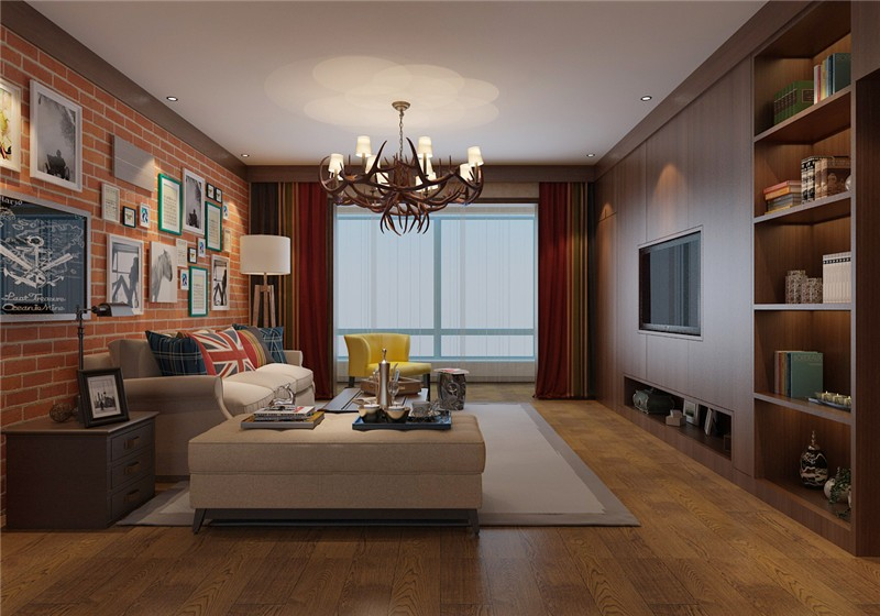 墙面装修超赞的新中式风格装修效果图