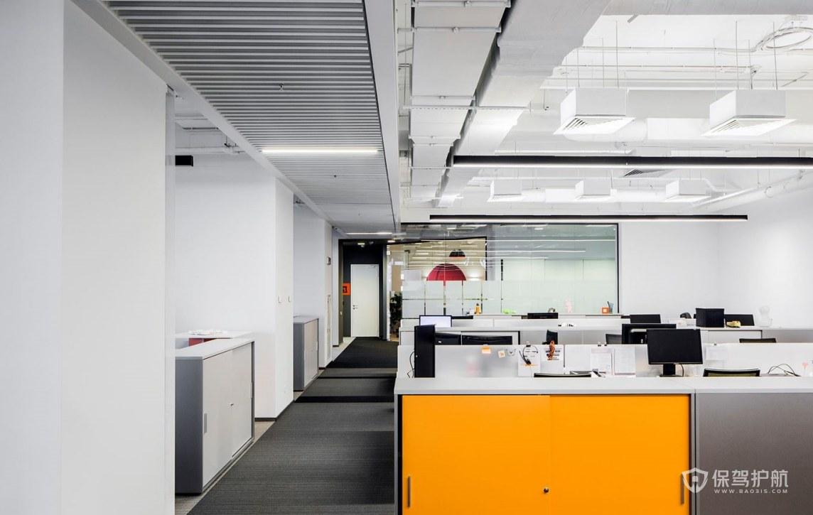 创意办公室办公区装修效果图
