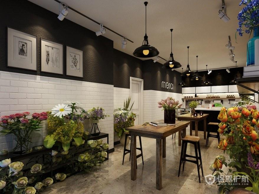 现代创意花店装修效果图