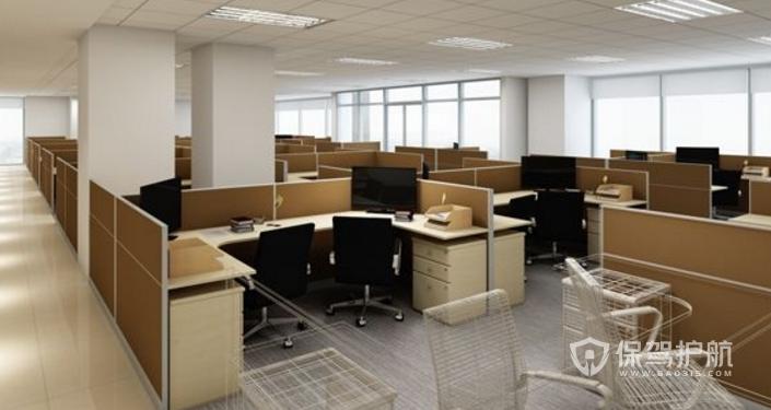 現代員工辦公區裝修效果圖