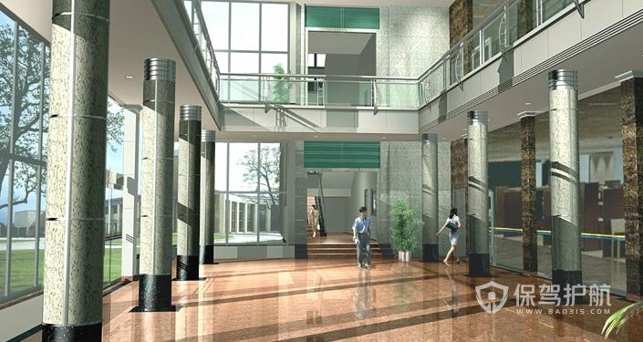 現代辦公大樓門廳裝修效果圖