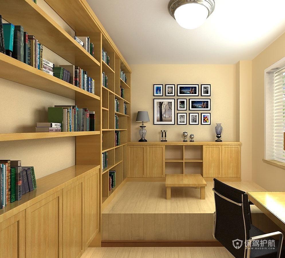 四室榻榻米书房装修效果图