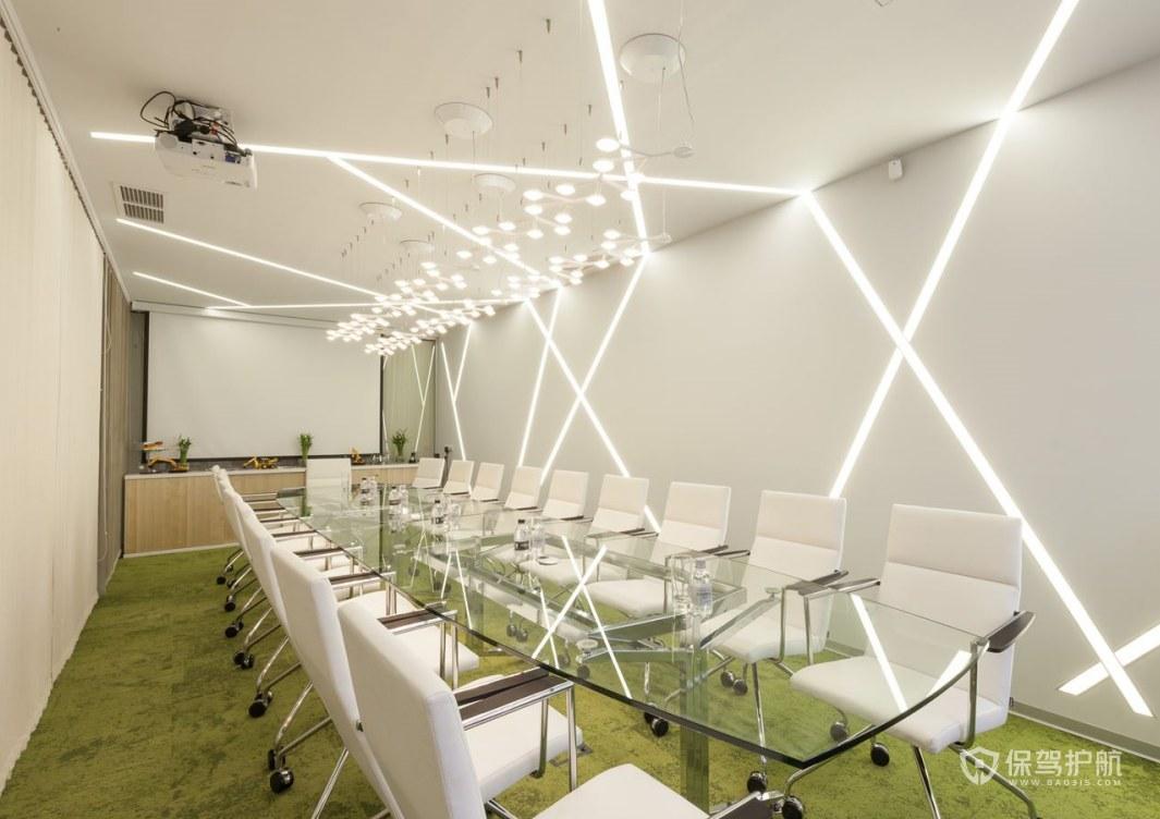 简单的公司会议室设计图片