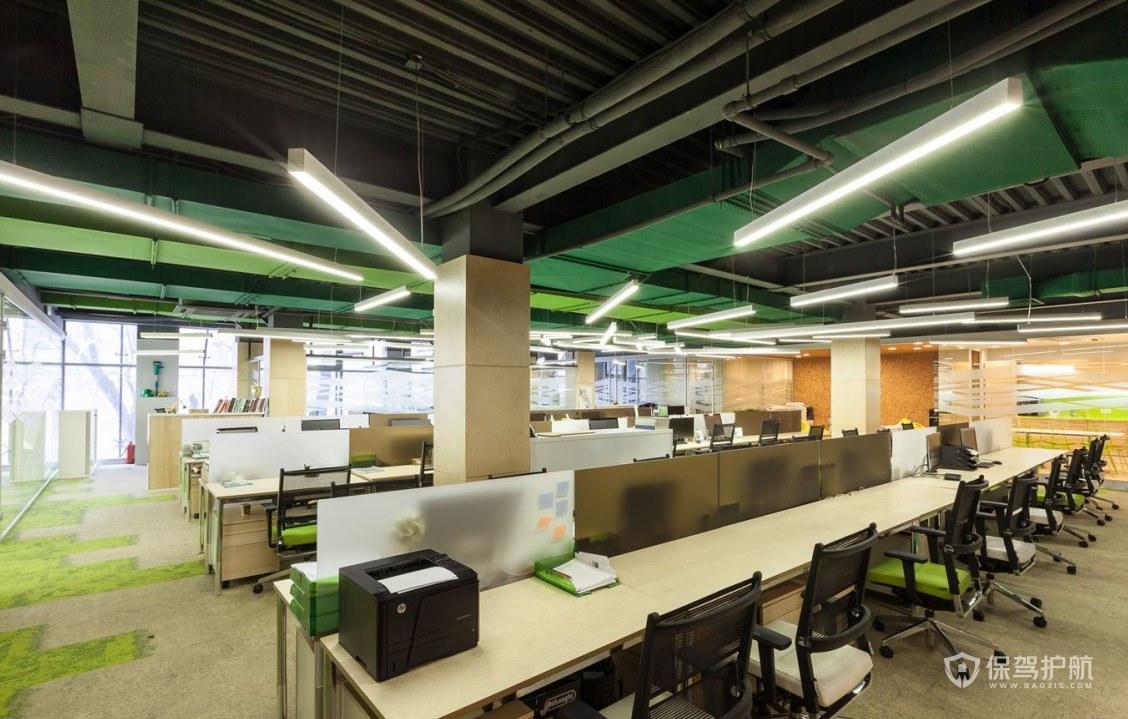 開放式公司辦公區設計效果圖