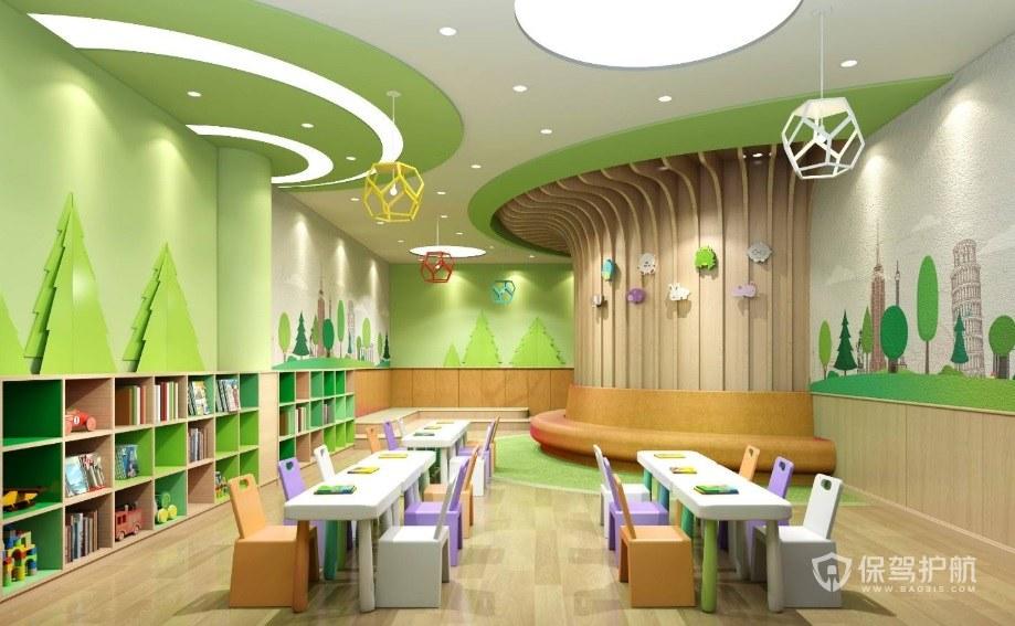 原木風幼兒園怎么裝修設計? 原木風幼兒園設計圖