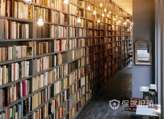 复古风格书吧咖啡馆装修效果图