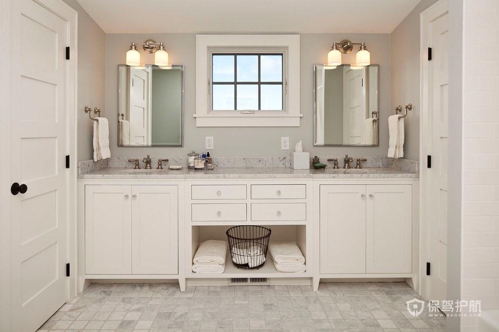 白色欧式优雅浴室装修效果图