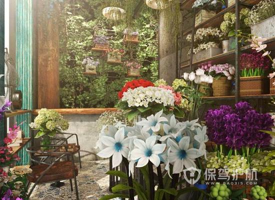 韩式风格鲜花店装修效果图