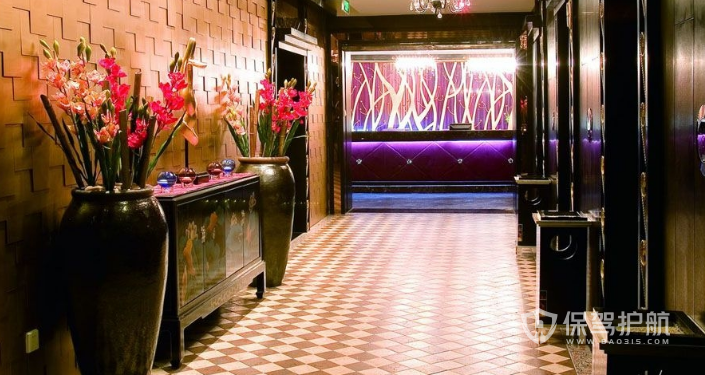 现代酒店走廊装修效果图