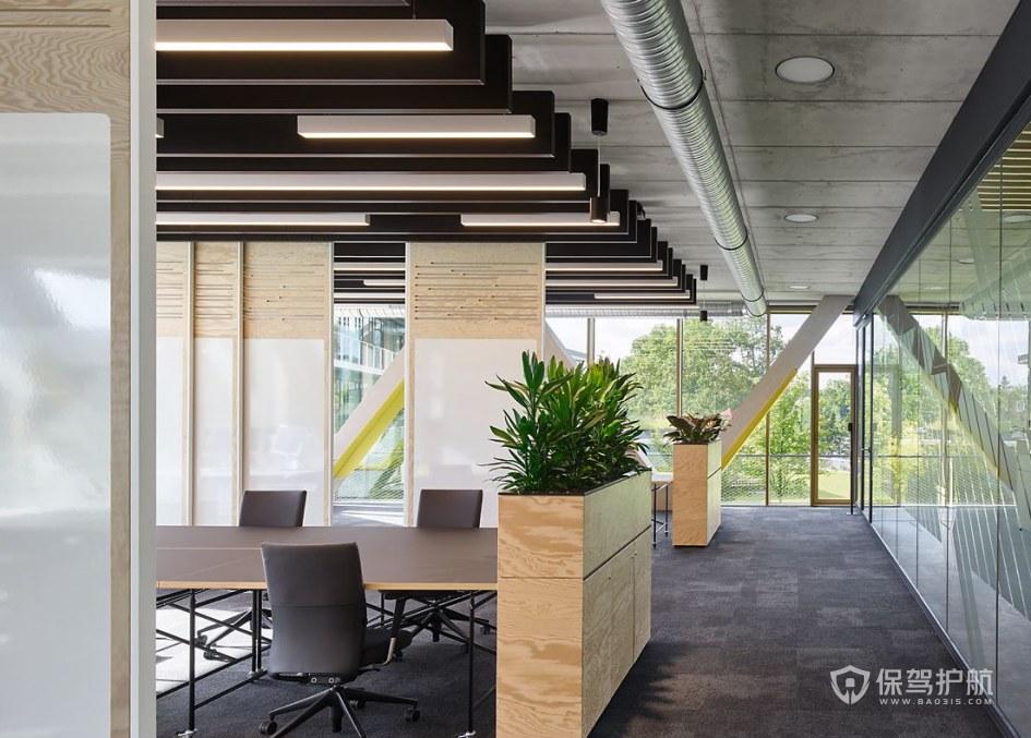 现代简约风办公室办公大厅设计图