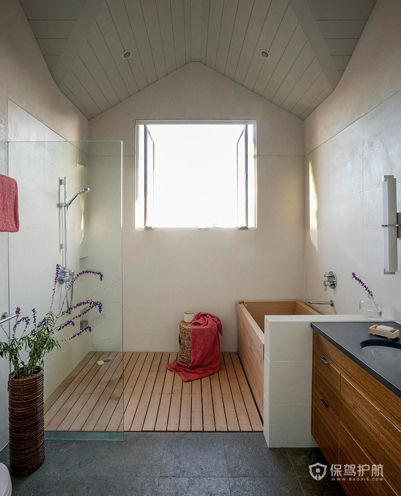 帶淋浴和浴缸浴室裝修效果圖