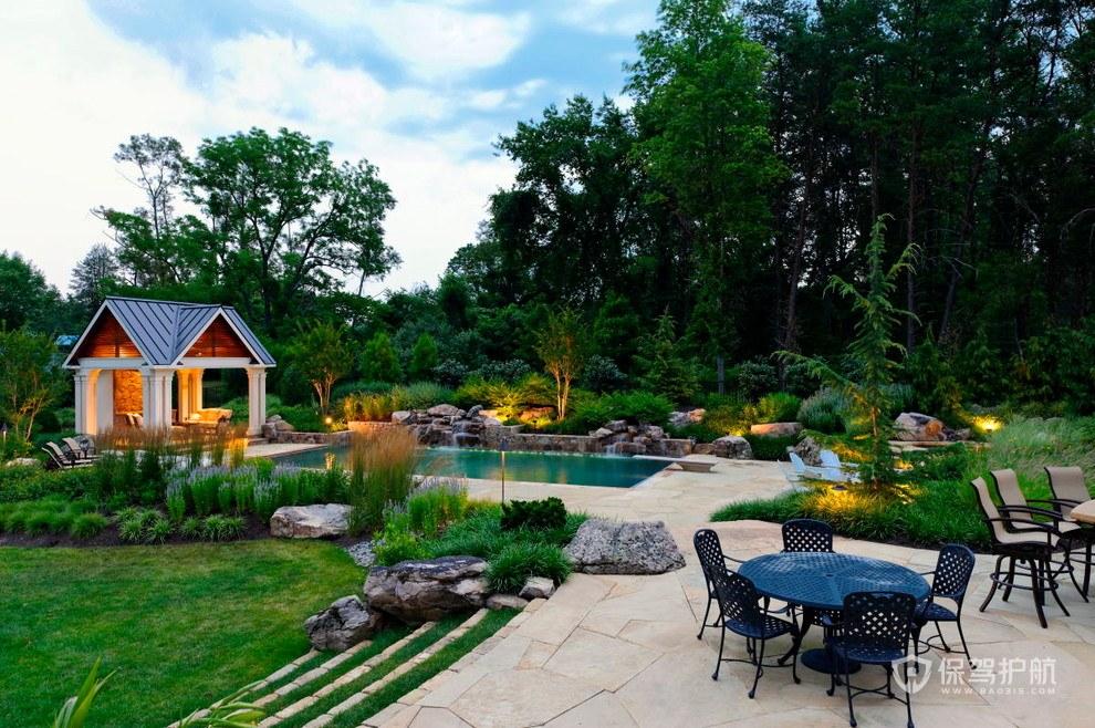 别墅田园风格花园装修效果图