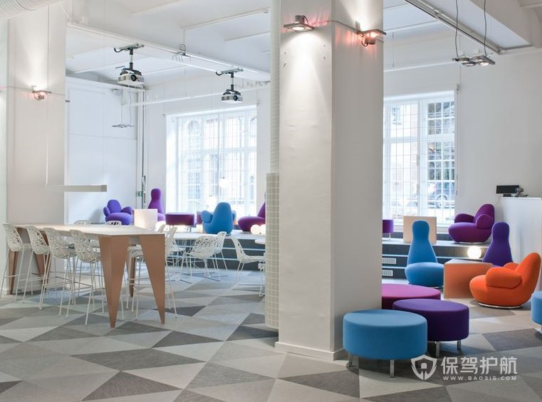 简约风格办公室休闲区设计效果图