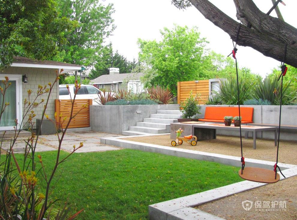 现代小花园装修效果图