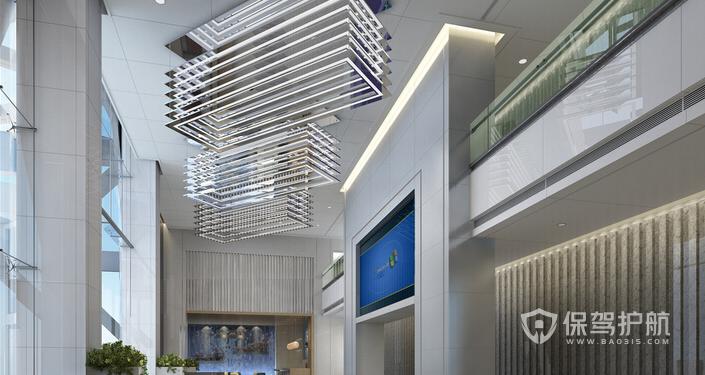 办公楼大厅装修效果图-保驾护航装修网