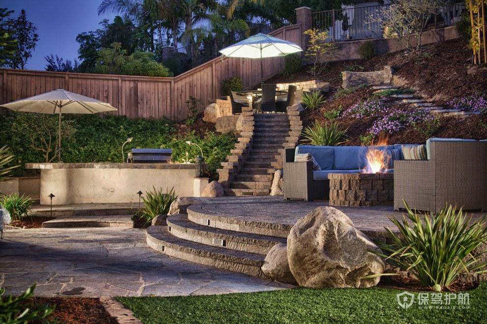 现代户外花园装修效果图