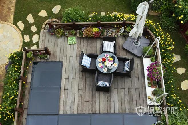 别墅花园简约设计实景图