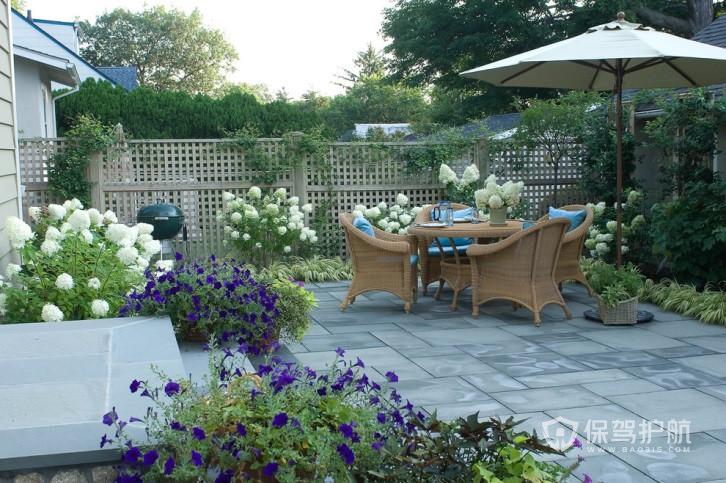 北欧温馨别墅花园装修实景图