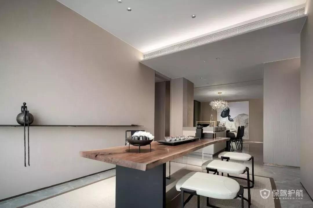 83㎡的现代简约风装修,客厅+书房装修设计也太实用了吧!