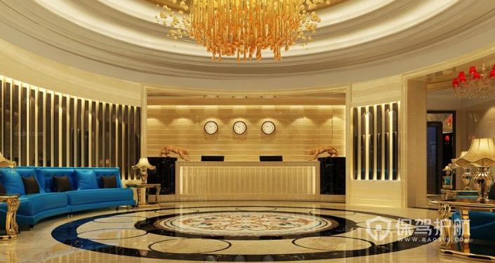现代酒店大堂装修效果图