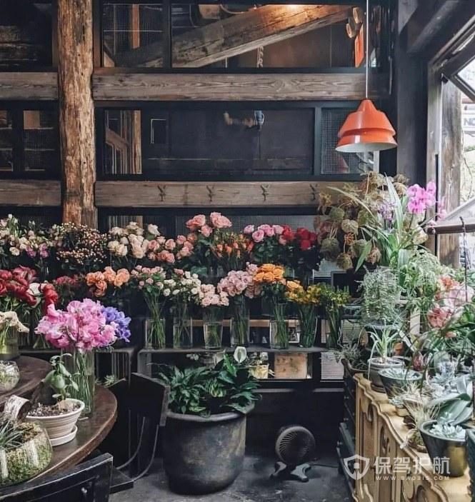 欧式复古花店装修效果图