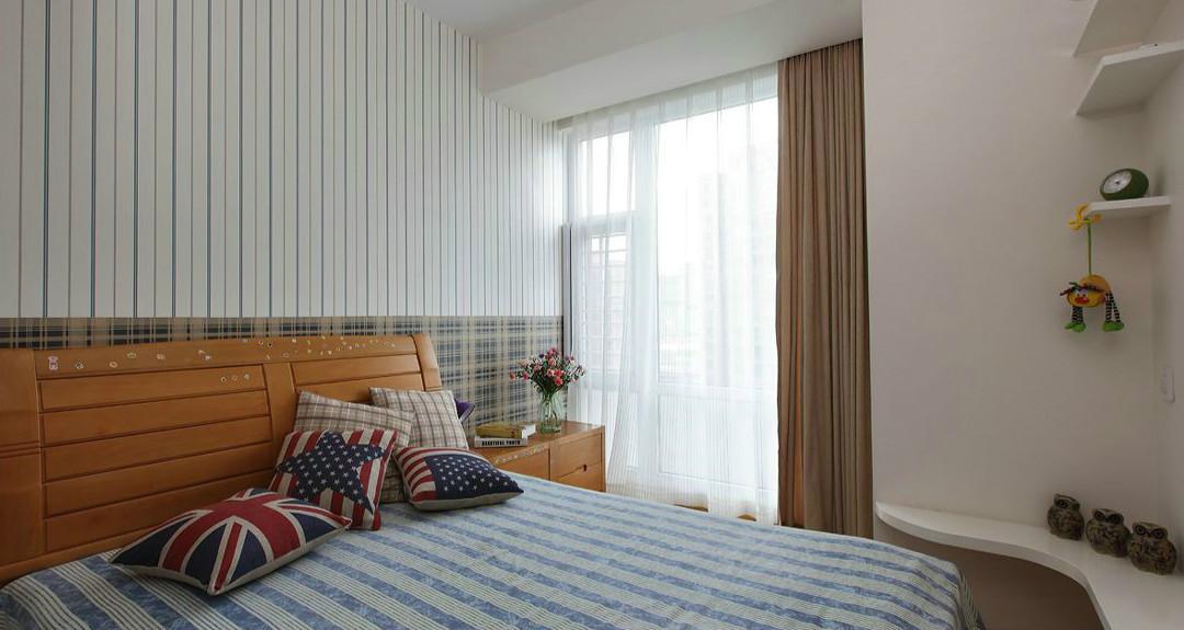 上海两房两厅一卫简约风格装修效果图