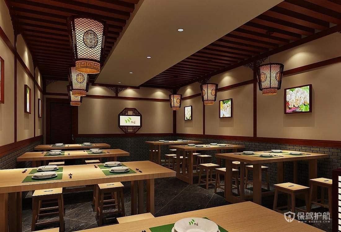 新中式茶餐厅装修实景图
