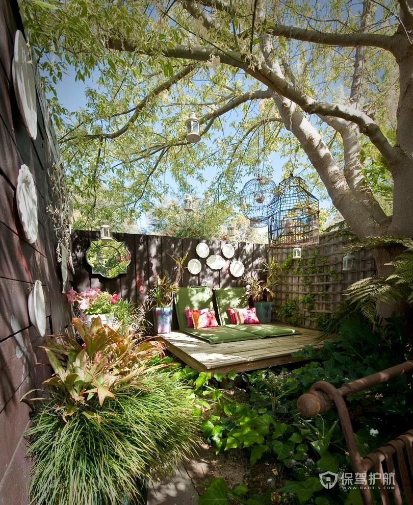 田园风屋顶花园装修效果图