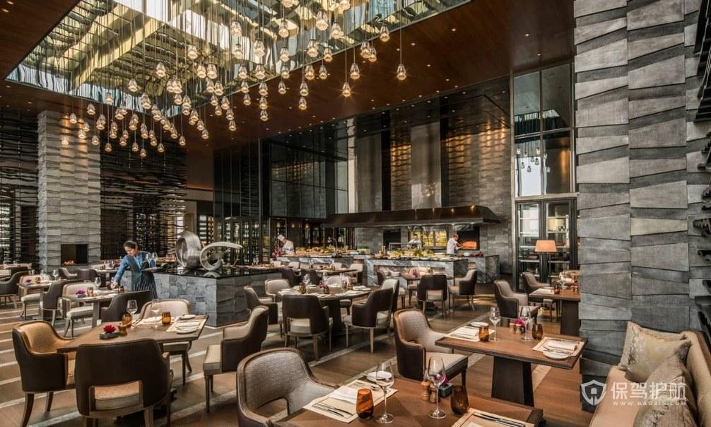 豪华欧式餐厅装修效果图
