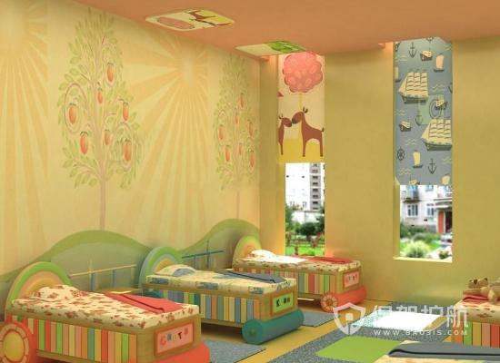 现代风格幼儿园休息室装修效果图