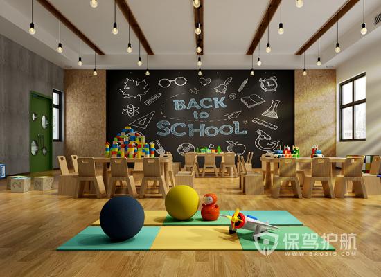 现代风格幼儿园娱乐区装修效果图