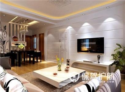 韩式现代风格客厅装修实景图