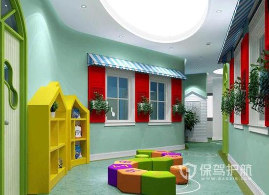 大型幼儿园走廊装修效果图