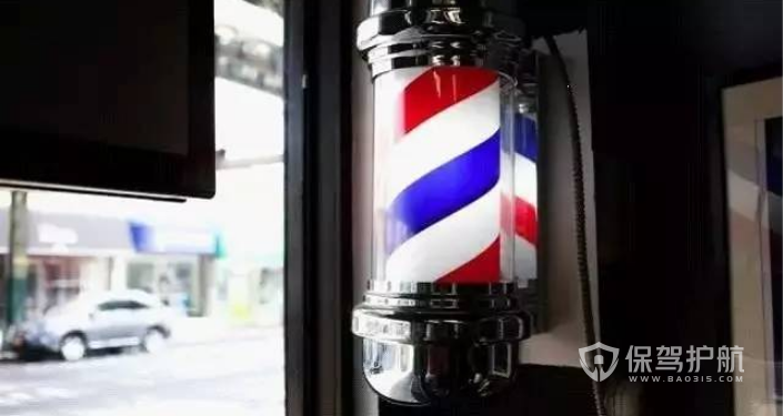 理发店三色灯的由来?理发店装修步骤
